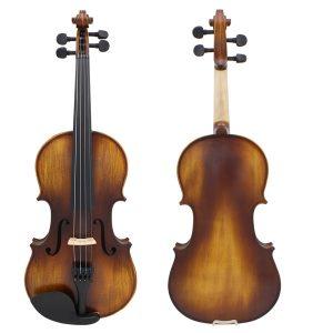 Astonvilla AV-506 4/4 Spruce Solid Wood Vintage Violin med fodral och tillbehör