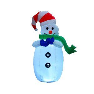 1.2M jul uppblåsbara snögubbe LED dekoration leksaker utomhus trädgårdsljus
