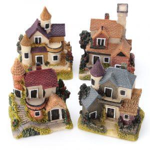 Dockhus Miniatyr Kit Garden Dockhus Micro Landskap DIY Mini Castle Modell Toy Heminredning Present