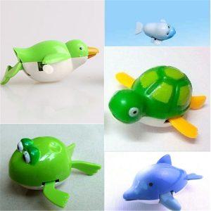 Söt vind-upp vattenpool Bad Dykare Plastleksak Simning Barn Barn Badleksaker