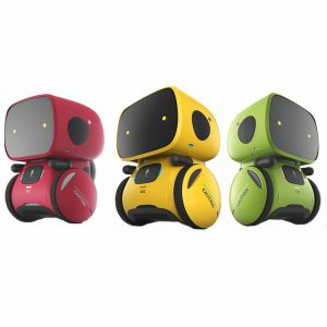 AT-ROBOT APOLLO Smart RC Robot Röststyrning Touch Sensitive Voice Record Mode Walking Robot Toy