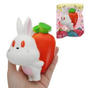 Gigglebröd Radish Kanin Squishy Toy 10 * 5.5 * 13.5CM Långsam Rising Med Packaging Collection Present