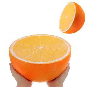 Enorma Orange Squishy 9.84in 25 * 25 * 14cm Giant Långsam Rising Med Förpackning biltoon Present Mjuk Toy