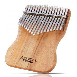 GECKO K17CAP 17 Keys Kalimba Camphorwood Thumb Piano Finger Med Tuning Hammer