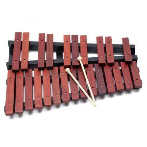 25 Noter Trä Xylofon Percussion Pedagogisk Gåva med 2 Mallets