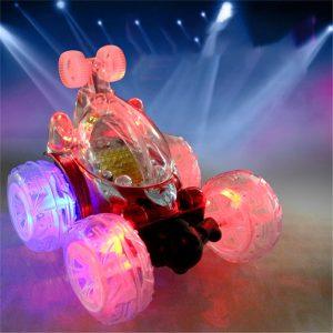 1/18 Rechargeable Rc Stunt bil 360 Degree Rotation med blinkande LED Light Toy