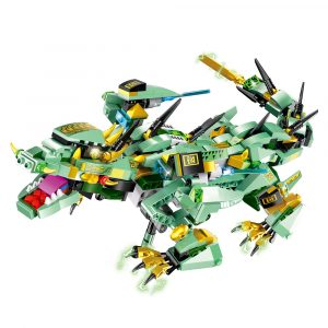 MoFun Green Battle Dragon 2.4G 4CH RC Robot Infraröd Kontroll Block  Bygga  Assembled Robot Toy
