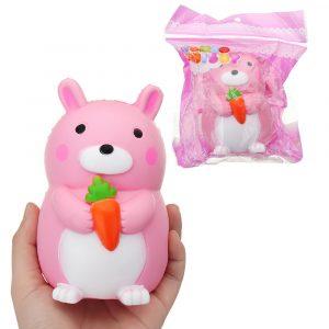 bilrot Kanin Squishy 9 * 12.5cm långsammare med Packaging Collection Present Soft Toy