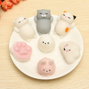 Kattkattunge Squishy Squeeze Söt Healing Toy Kawaii Collection Stress Reliever Present Decor