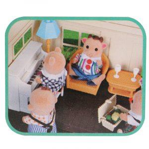 1:12 Simulering Sofa Piano Set Spela House Props dockhus Creative DIY Material