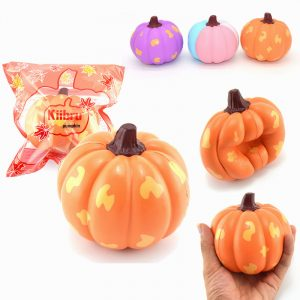 2st Kiibru Halloween Squishy Pumpa Grönsak 12cm Långsam Rising Present Collection
