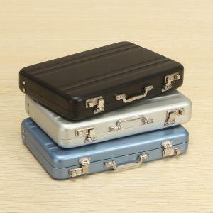 Aluminium Business Kreditkort låda Mini Koffer bild Holder Högkvalitativt Business Office bild låda