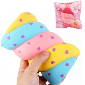 Cotton Candy Squishy 14 * 9,5 * 5,5 cm Mjukt långsamt stigande med Packaging Collection Present Marshmallow Toy