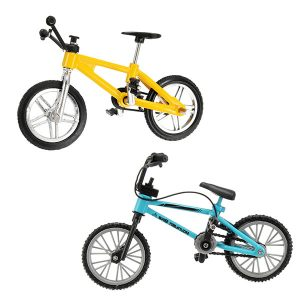 Creative Simulation Mini Alloy Cykel Finger Gaffeltruck Leksak Flerfärg barns Present Sports