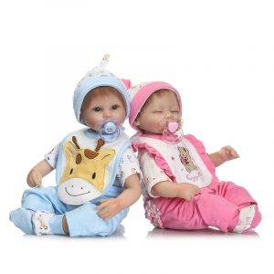 """NPK15.7 """"Söt, Soft Reborn Silicone Handgjorda Lifelike Baby Docka Realistiska Nyfödda Toy Creative Presents"""