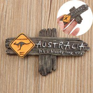 Bloody Long Way Australien Känguruharts Souvenir 3D Kylmagnet