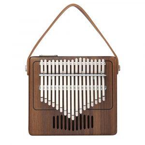 17 nycklar Portable Kalimba Retro Radio Modeling Thumb Piano Finger Percussion With Piano Bags
