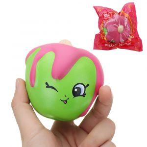 Meistoyland Squishy Fruit biltoon långsammare Toy med Packing Cute Docka Hängsmycke