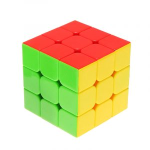 Classic Magic Cube Leksaker 3x3x3 PVC Sticker Block Pussel Speed ​​Cube Sugar Color