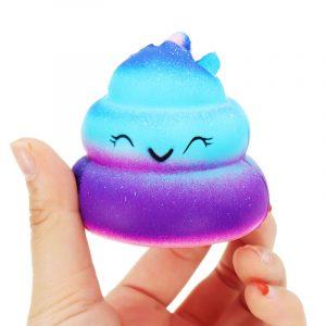 Crazy Squishy Galaxy Poo Långt stigande doftande tecknad Bun Stress Kawaii Toy Telefon Hängsmycke