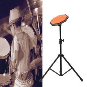 "8 ""21cm Gummi Dumb Drum Practice Pads Set med stativ"