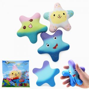 Vlampo Squishy Starfish 14cm Sweet Licensed Slow Rising  Collection Present Decor Toy