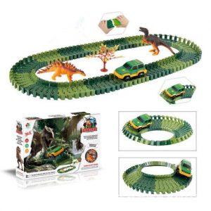 Över 100st DIY Montering  Bygga  Dinosaur Spår Electric bil Orbit Serie Barn Julklapp Toy