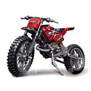 Motorcyckel Bygga Blockerar Leksaker med Tegelstenar & Låda