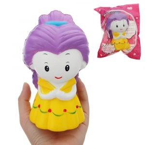 Snövit prinsessa Squishy 15,5 * 9,5 cm långsammare med Packaging Collection Present Soft Toy
