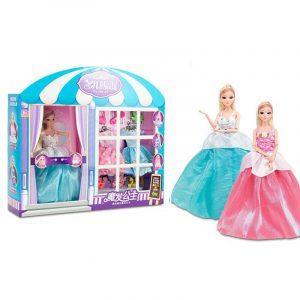 3D-action Figurdocka- Alice Magic Hair House Flerfärgad dröm prinsessa med livlig öga Huvud