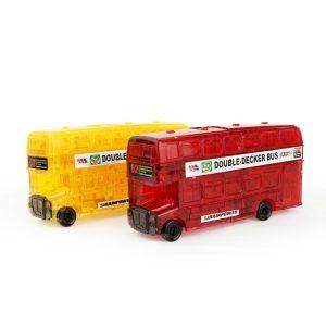 3D 54st  Dubbel Decker Buss Crystal pussel Blockerar Leksaker