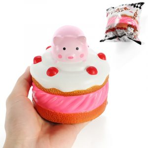 Squishy Piggy Cake 9.5cm Pink Pig Långsam Rising With Packaging Collection Present Inredning Mjuk Toy