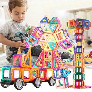 113 stycken magnetiska plattor kit blockera byggnadsleksaker för pojkar eller tjejer
