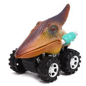 1 / 6X Dinosaurbilar Trä Tillbaka Bilsats Mini Djurbil Boys Nyhet Leksaker Födelsedagspresent