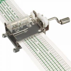 DIY Hand-cranked musiklåda med 20st 15-tums tomt pappersband och hålpuncher