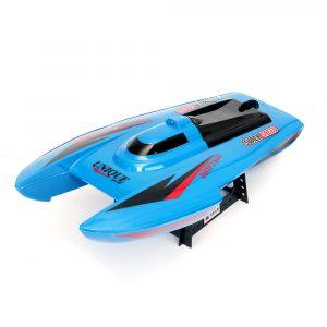 CT3352 39.5CM 27 40MHZ 3CH Rc Båt Blå Röd Super Speed Toy Med Vattenavlägsnande Funktion