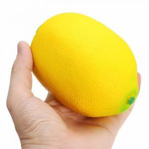 Squishy Gul Citron 12cm Stor Mjuk Långsam Rising Frukt Samling Present Decor Toy