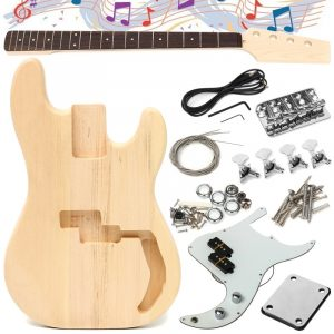 DIY Unfinished Electric Guitar Basswood Wood Body med nackstring