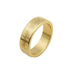 Kingmagic Hardcover Golden Magician Magnetisk Ring Rostfritt Stål Magic Prop