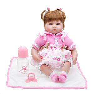 NPK Docka 22 '' Reborn Silicone Handgjorda levande realistiska nyfödda leksaker för flickafödelsedagsgåva