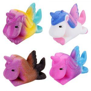 Unicorn Pegasus Squishy 11 * 9cm långsammare mjuka samling gåva dekor leksak