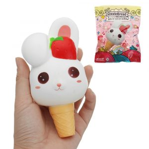 Gigglebröd Rabbit Ice Cream Squishy 13,5 * 6,5 * 6cm långsammare med Packaging Collection Present