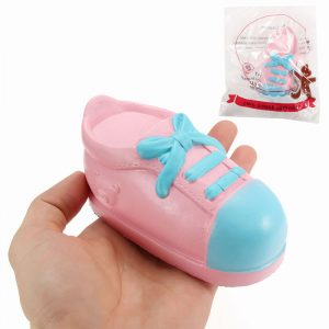 Squishy Shoe 13cm långsammare med Packaging Collection Present Inredning Soft Squeeze Toy