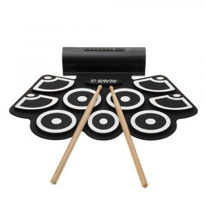 KONIX MD760 Portable 9 Beat Inbyggd högtalare Rulla upp elektroniska trumsklossar