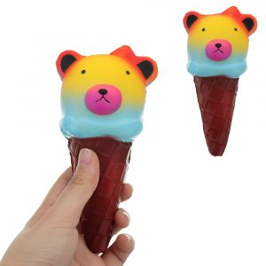Bear Ice Cream Squishy 16CM Långsam Rising Collection Present Soft Toy