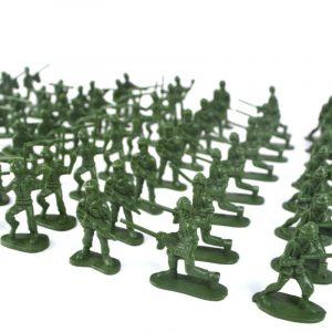 YC 998-3 100st 5cm Soldier Army Troop Figur Slag War DIY Scene Model