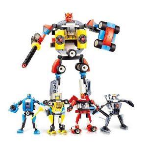 4 i 1 Transformation Robot bil DIY Leksaker för barn