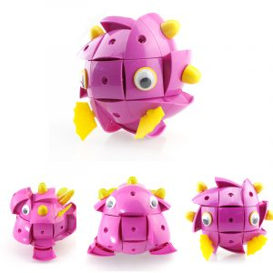 PaRadiostyrdaae NS004 90st Magnetic Magic Wisdom Ball Svart Rosa Pig Blockerar  Olika DeformationLeksakers