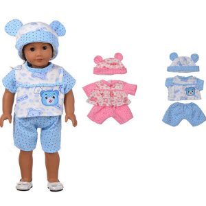 Sleeping Baby Bear Shape Docka Clothes Set För 18 '' American Girl Without Reborn Baby