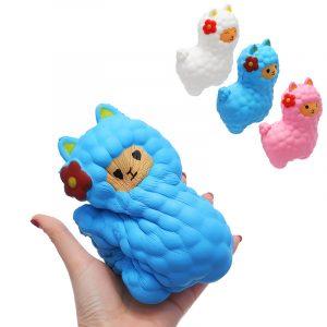 Stora får Squishy 17 * 13cm Långsam Rising Squeeze Stress Reliever Toy Födelsedag Julklapp